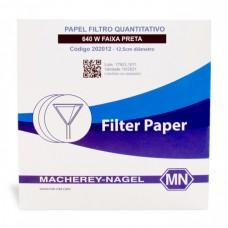 PAPEL FILTRO QUANTITATIVO MN 640 W(FAIXA PRETA)70MM C/100FL