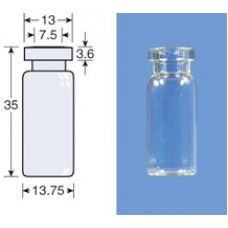 VIAL S/R N13-2 BRANCO 13,75X35MM 2ML C/100PC