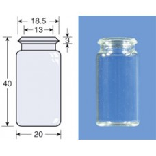 VIAL S/R SNAP ON CAPS N18 INCOLOR 5ML 20X40MM C/100PC