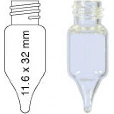 VIAL C/R N8-1 C INCOLOR CONICO 11,5X32,5MM 1,5ML C/100PC