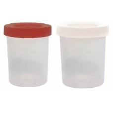 Coletor 50 ml | 0549-4 | Transparente/T. vermelha s/pa | Capacidade 50 ml | Embalagem Indiv. SIM | Estéril SIM | JProlab 0549-4