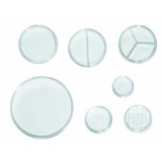 Placas de Petri - Descartáveis | Cód. 0303-8 | Dimensões 60x15mm | Compartimentos s/ divisão | Embalagem Cx. c/560 - pcte c/10 | JProlab 0303-8