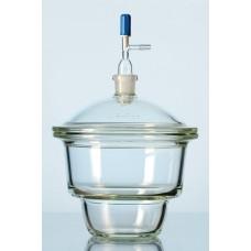 Dessecador a vácuo DURAN® com tubo de junção padrão terra NOVUS (NS 24/29) na tampa, torneira e flange plana Capacidade 250 mm – 2478266