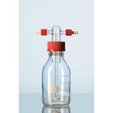 Frasco lavador de gás com placa porosa e frasco de 500 ml graduado Capacidade 500 ml - 9570401