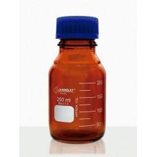 Frasco Reagente com Rosca Âmbar com Tampa de Rosca e Anel Antigota Azul em PP Capacidade 10.000 ml – 91806865